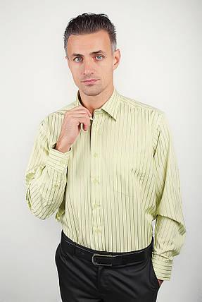 Рубашка светлая в полоску Fra №869-14 (Салатовый), фото 2