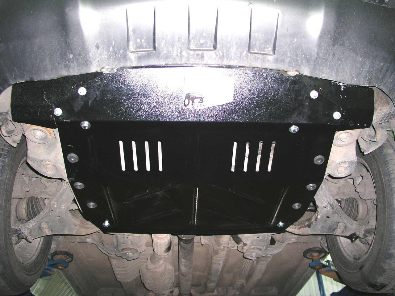 Защита картера (двигателя) и Коробки передач на БИД Ф0 (BYD F0) 2008 - ... г (металлическая/увеличенная)
