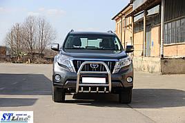 Кенгурятник QT007 (нерж) - Toyota LC 150 Prado