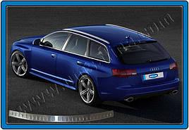 Накладка на задний бампер (AVANT, нерж.) - Audi A6 C5 2001-2004 гг.