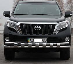Передняя защита ST016-2 (нерж) - Toyota LC 150 Prado