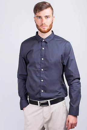 Рубашка мужская стильная 2B001 (Грифельный), фото 2