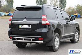 Задняя дуга AK002-2v2 (нерж) - Toyota LC 150 Prado