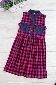 Платье женское клетка Style 3052