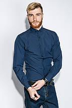 Рубашка мужская однотонная 333F007 (Синий), фото 3