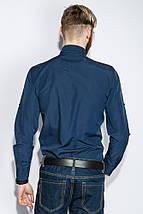 Рубашка мужская однотонная 333F007 (Синий), фото 2