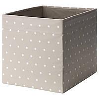 ДРЁНА Ящик, бежевый, точечный, 33x38x33 см, 90399217, IKEA, ИКЕА, DRONA