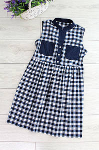 Платье женское клетка Style 3052-1