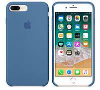 """Накладка iPhone 7 """"Leather Case"""" TPU Cиняя, фото 2"""
