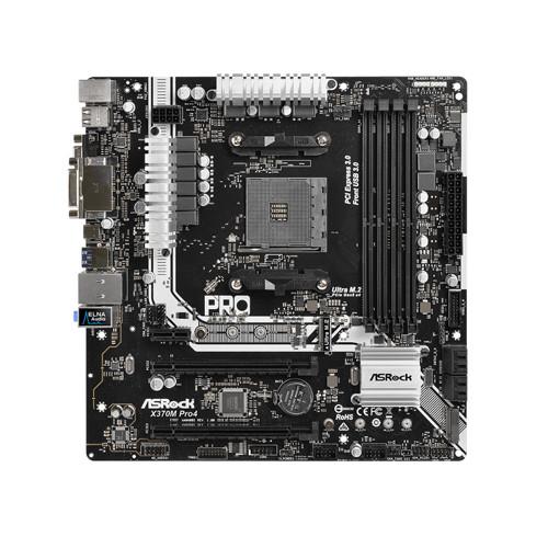 Материнская плата ASRock X370M Pro4 (AM4/X370/DDR4)