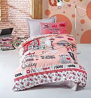 Подростковое постельное белье Cotton Box SELFIE KIRMIZI
