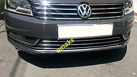 Накладки на решітку бампера (нерж) - Volkswagen Passat B7 2012-2015 рр.