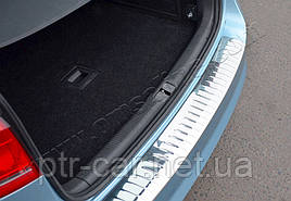 Накладка на задній бампер OmsaLine Глянець (SW, нерж) - Volkswagen Passat B7 2012-2015 рр.