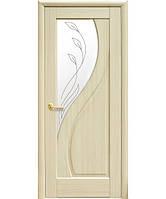 Дверное полотно Прима со стеклом сатин и рисунком