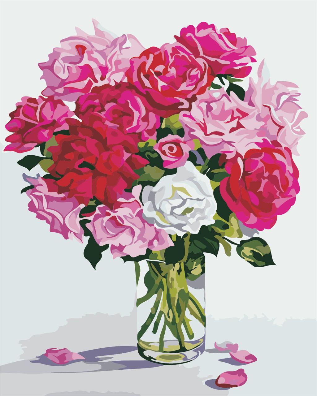 "Картина по номерам ""Оттенки розового"" 40*50см"