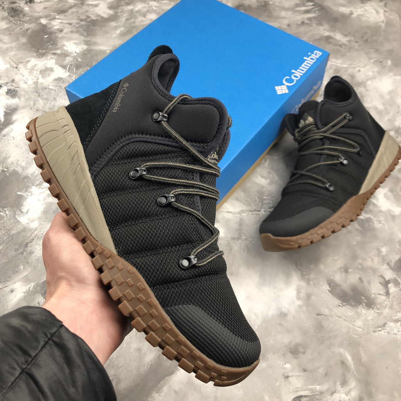Оригинальные зимние кроссовки Columbia FAIRBANKS 503 Black Mud ... defe43102d8f7