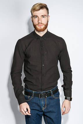 Рубашка мужская 100% коттон 333F008 (Черный), фото 2