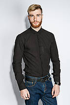 Рубашка мужская 100% коттон 333F008 (Черный), фото 3