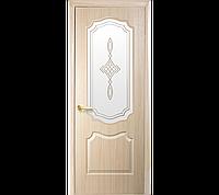 Межкомнатные двери Вензель со стеклом сатин и рисунком