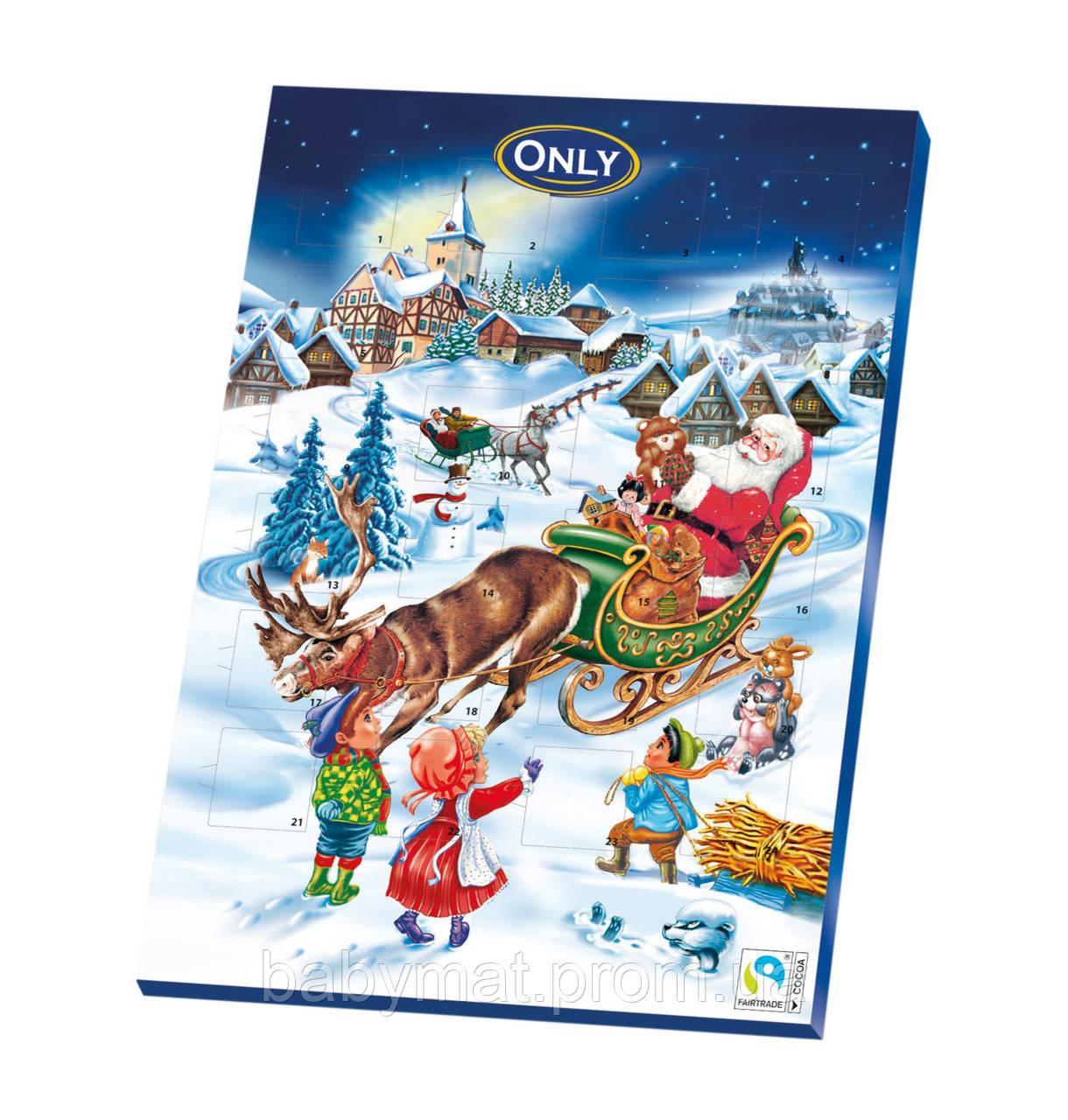 Шоколад Новогодний Адвент календарь Рiздвяний подарунок  Австрия 75 гр
