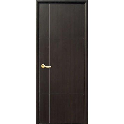 Міжкімнатні двері Ніка глухі з гравіюванням Silver