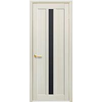 Межкомнатные двери Марти с чёрным стеклом
