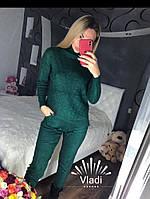 Костюм кашемировый , свитер мелкая коса ромб , фото 1