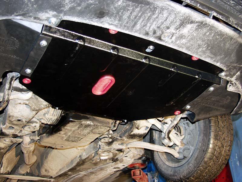 Защита картера (двигателя) и Коробки передач на ДЭУ Ланос (Daewoo Lanos) 2011 - ... г (металлическая/1.4 АКПП)
