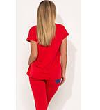 Костюм двойка кофта и брюки красный размеры от XL 4283, фото 2
