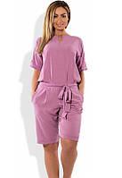 Женский комбинезон с шортами лиловый размеры от XL 4275