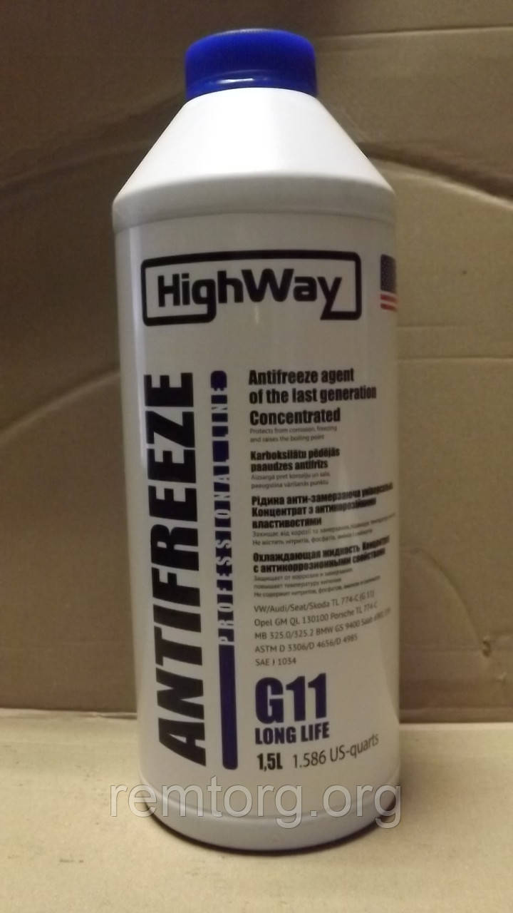 """Антифриз G11 """"HighWay"""" концентрат 1,5 л."""