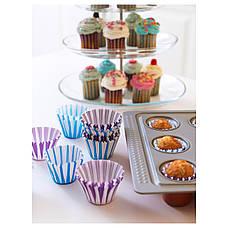 ДРОММАР Формочка для выпечки, синий/сиреневый, бумага, 70208129, IKEA, ИКЕА, DROMMAR, фото 2
