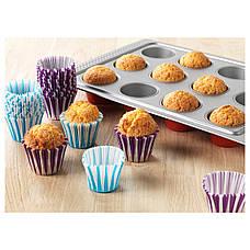 ДРОММАР Формочка для выпечки, синий/сиреневый, бумага, 70208129, IKEA, ИКЕА, DROMMAR, фото 3