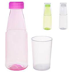 Бутылочка 9784598 (100 400мл, стакан, микс цветов, в кульке, 21-7-7см