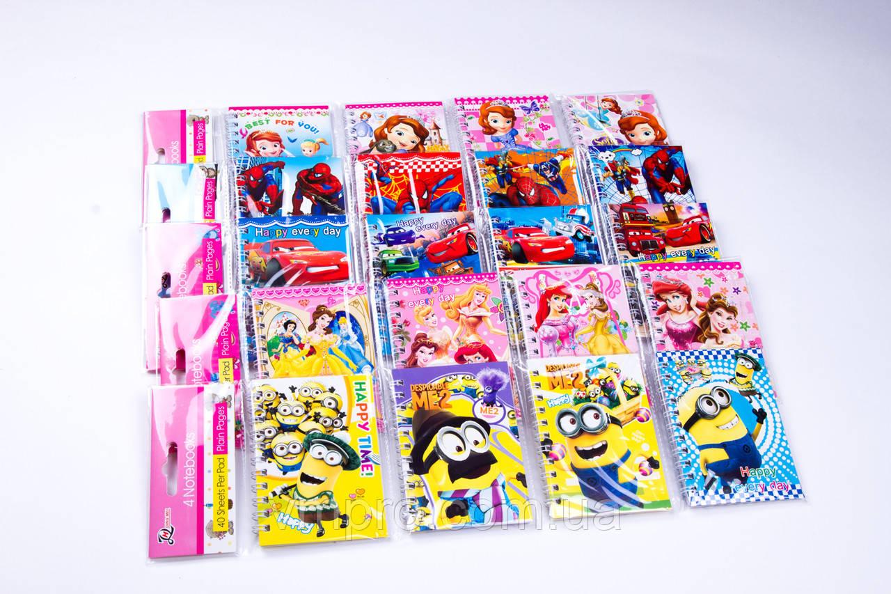 Блокнот на спирале с рисунками, A-7, 36 листов, №355, детские блокноты