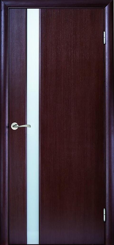 Дверь межкомнатная Глазго 1 ПО Триплекс сатин