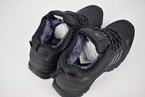 """Зимние кроссовки, ботинки на меху Adidas Climaproof Low """"Black"""" (Черные), фото 2"""
