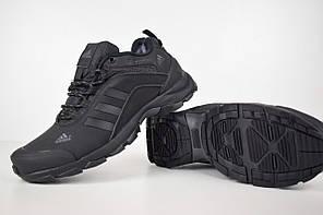 """Зимние кроссовки, ботинки на меху Adidas Climaproof Low """"Black"""" (Черные), фото 3"""