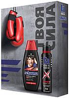 """Подарочный набор """"Schauma Men & Fa Men Power+"""" (шампунь 400 мл.+ антиперспирант-дезодорант 150 мл.)"""