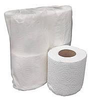 """Туалетная бумага белая двухслойная с перфорацией. 100% целлюлоза 18 м в рулоне """"Green ix"""" В уп. 4 шт + видео, фото 1"""