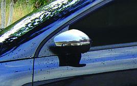 Накладки на зеркала HB (2 шт, нерж) - Volkswagen Polo 2009-2017 гг.