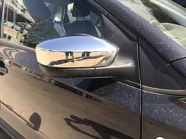 Накладки на зеркала Sedan (2 шт, нерж) - Volkswagen Polo 2009-2017 гг.