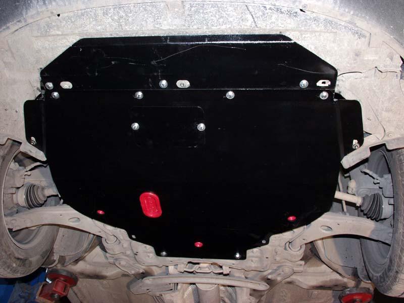 Защита картера (двигателя) и Коробки передач на Форд Фиеста 6 (Ford Fiesta VI) 2008-2016 г (металлическая/кроме 1.0)