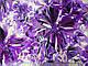 Атлас стрейчевый цветочная фантазия, фиолетовый, фото 2