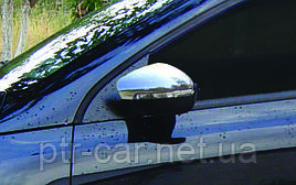 Накладки на зеркала (2 шт, нерж) - Volkswagen Scirocco