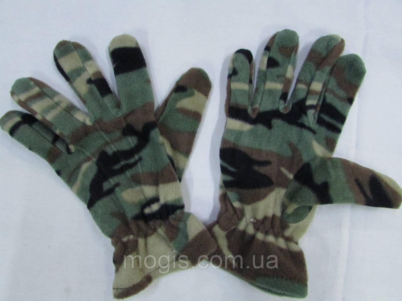 Перчатки флисовые кмф