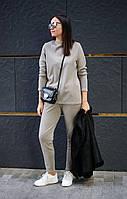 Женский трикотажный костюм, теплый костюм из трикотажа