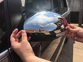 Накладки на зеркала (2 шт, нерж) - Volkswagen Sharan 2010+ гг.