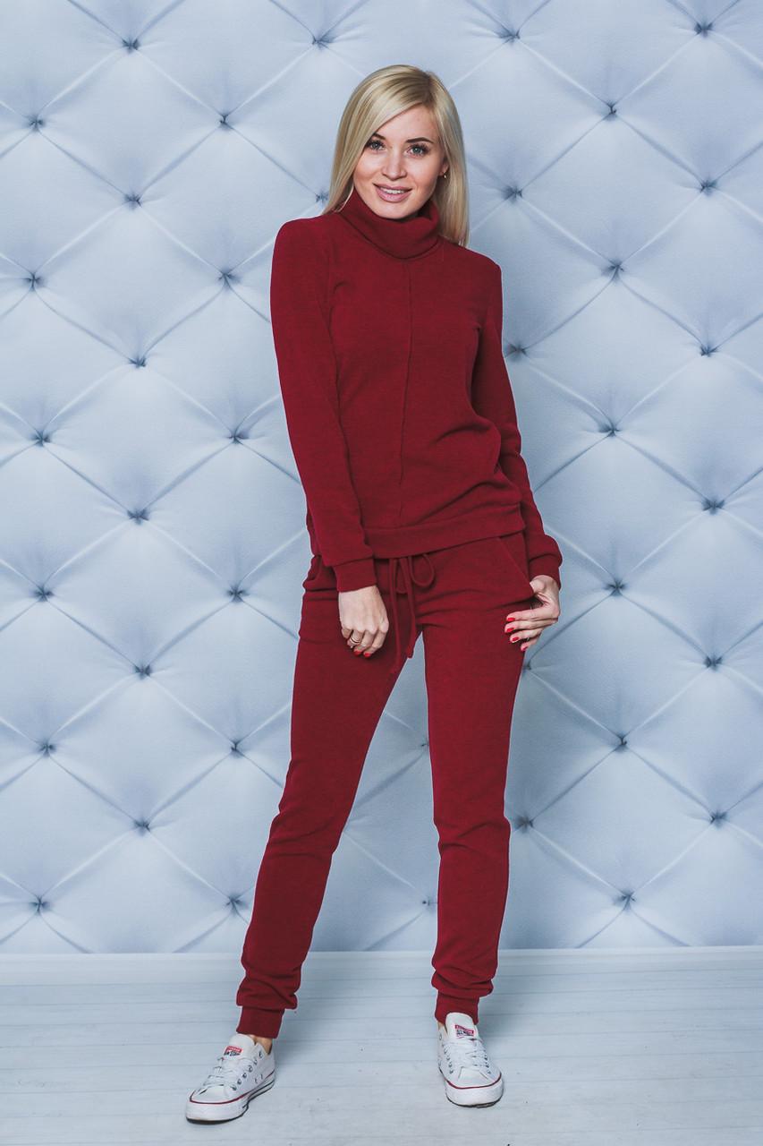 73f7be857bca Костюм женский из шерсти свитер+штаны бордо