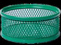 Подставка для скрепок BUROMAX, металлическая, зеленый